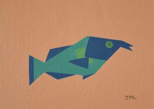 Pinktail Triggerfish 2 acrylic on 5x7 canvas panel 2016
