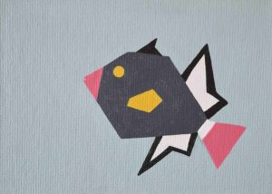 Pinktail Triggerfish 2 arcylic on 5x7 canvas panel 2016