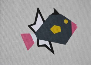 Pinktail Triggerfish arcylic on 5x7 canvas panel 2016