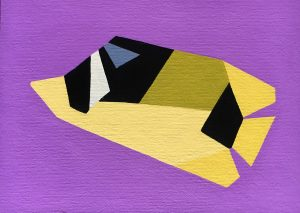 Raccoon Butterflyfish acrylic on 5x7 canvas panel 2016