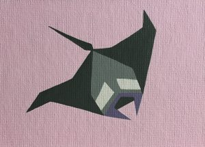 Manta Ray no. 2 acrylic on 5x7 canvas panel 2016