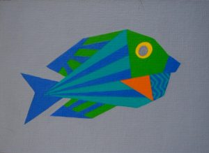 Goldring Surgeonfish acrylic on 5x7 canvas panel 2017