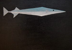 Needlefish acrylic on 5x7 canvas panel 2017